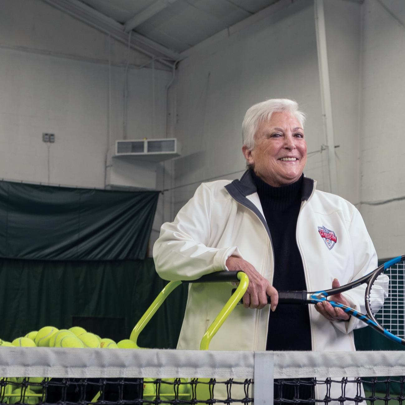 Donna Bernstein is passionate about tennis and philanthropy.