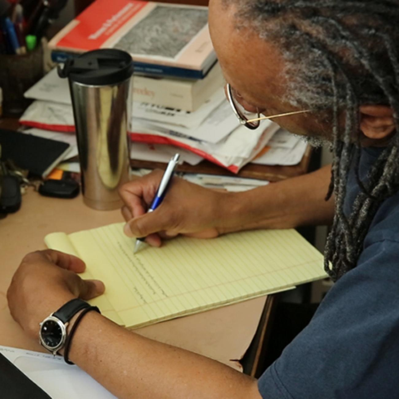Nathaniel Mackey is the Reynolds Price Distinguished Professor of Creative Writing.