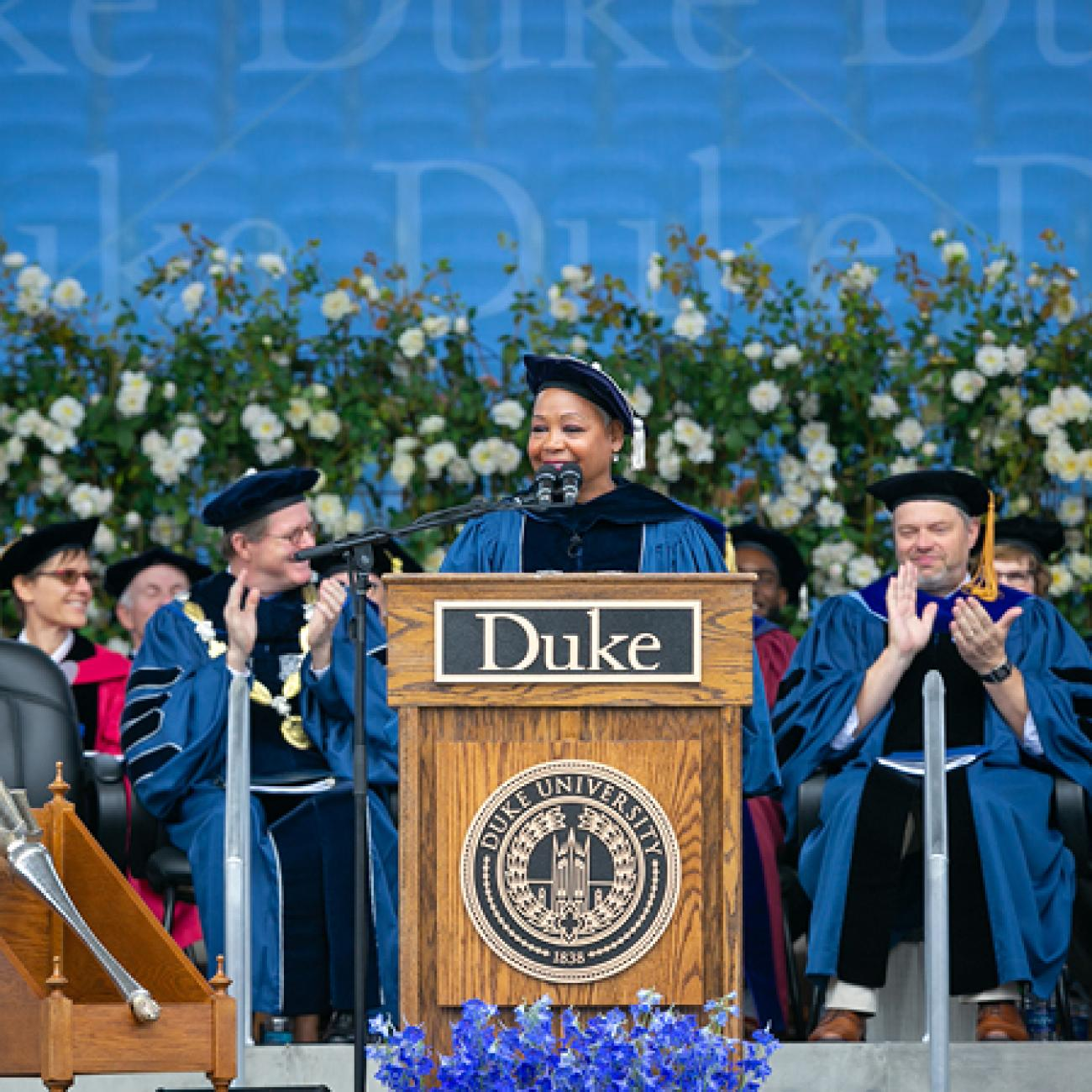 Lisa Borders gave the commencement address for the Class of 2019.