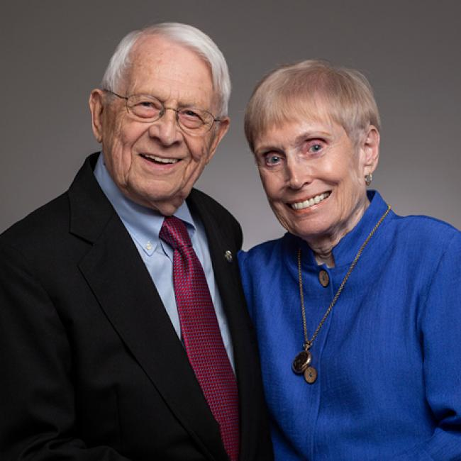 Gerald and Ginger Wilson have spent their lifetime helping North Carolinians with their education.